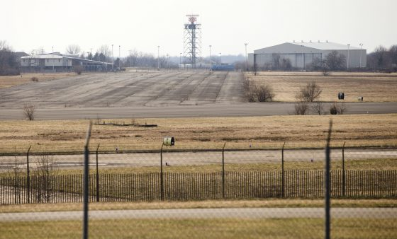 The former Naval Air Station Joint Reserve Base Willow Grove and present day Horsham Air Guard Station is shown Thursday, March 10, 2016, in Horsham, Pa. The military is checking whether chemicals from firefighting foam might have contaminated groundwater at hundreds of sites nationwide and potentially tainted drinking water, the Defense Department said.